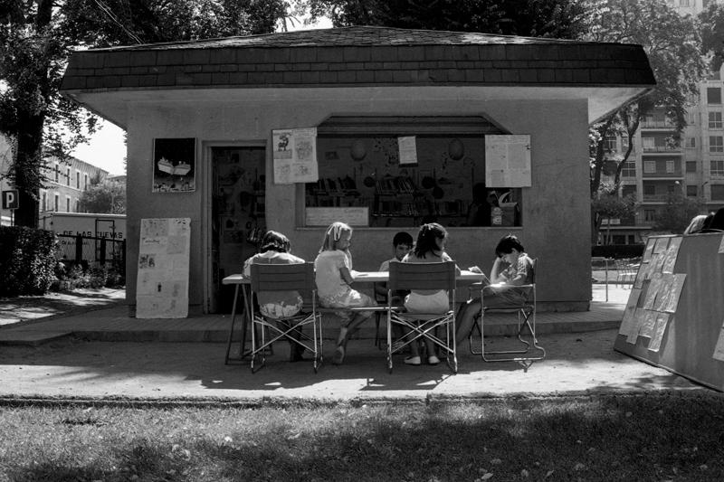 Biblioteca de Poniente (1989). ©Archivo Luis Laforga